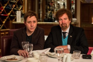 Programme Name: Inside No.9 series 3 - TX: n/a - Episode: n/a (No. n/a) - Picture Shows:  Archie (REECE SHEARSMITH), Malcolm (STEVE PEMBERTON) - (C) BBC - Photographer: Sophie Mutevelian